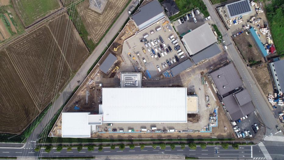 AKIM 工事中の敷地真上から見下ろす