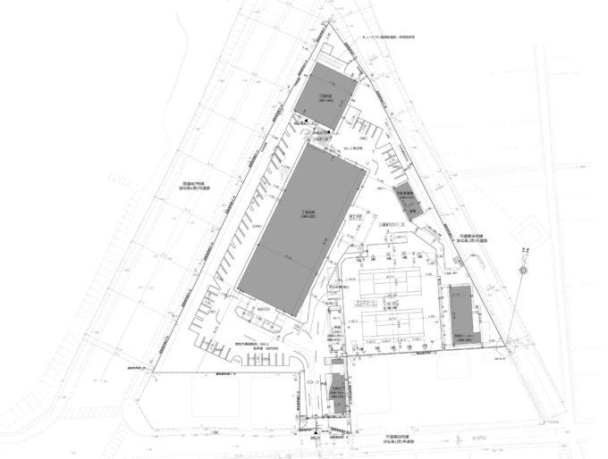 AKIM敷地の全体図
