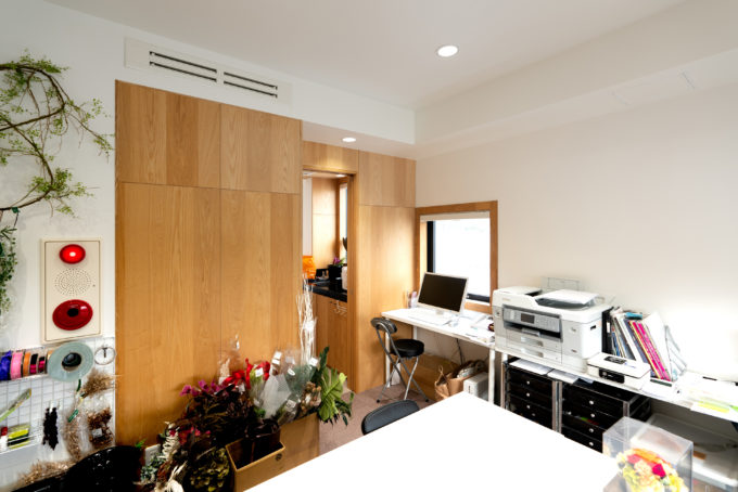 BLINK 4階のテナント HIRO Flower Studioの事務所部分