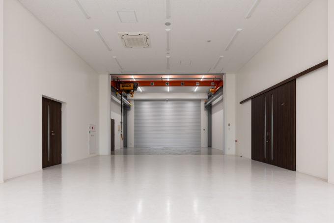 AKIM 工場内のクレーン室