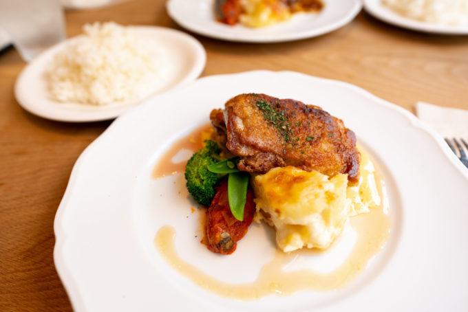 BLINK カリカリに焼いた鶏肉のランチ